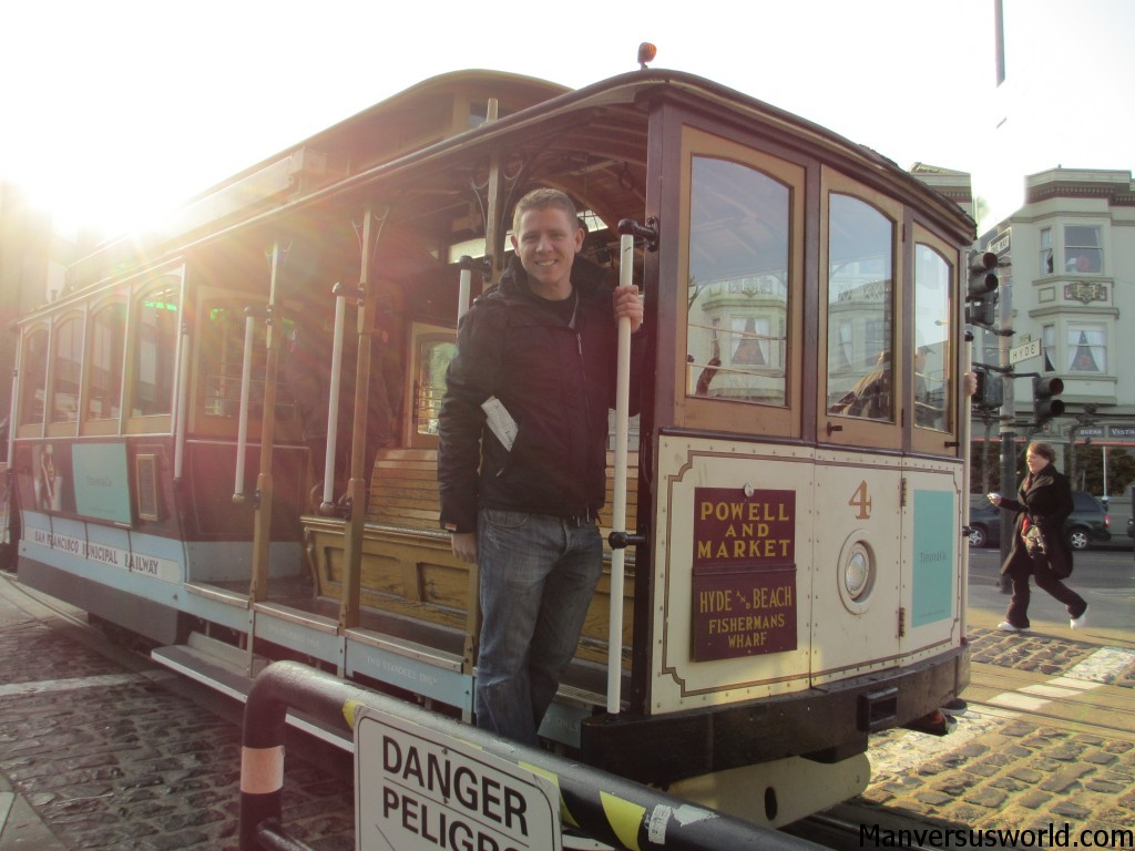 Me on a San Francisco cable car