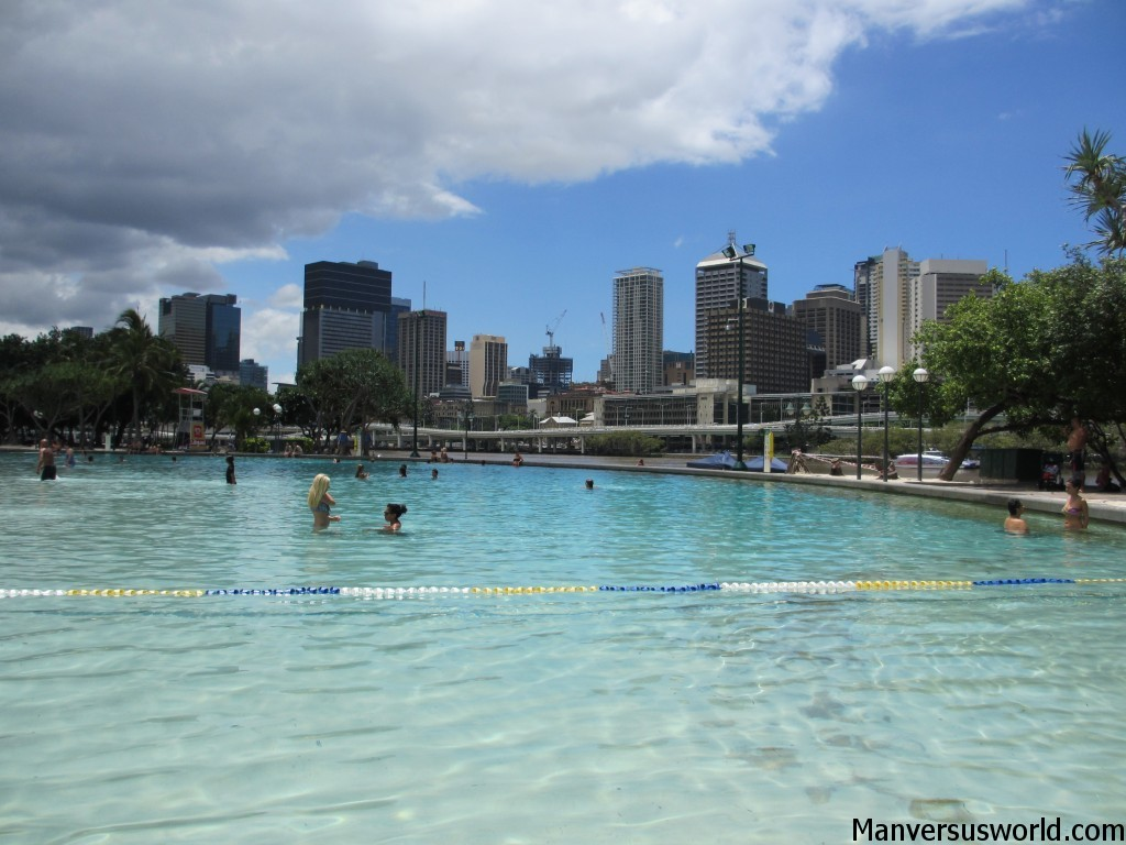 Brisbane's city beach, the Streets Beach, Southbank
