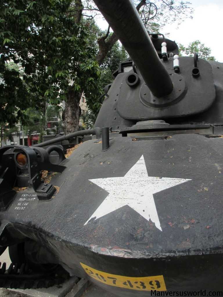 A US army tank at the War Remnants Museum in Ho Chi Minh, Vietnam