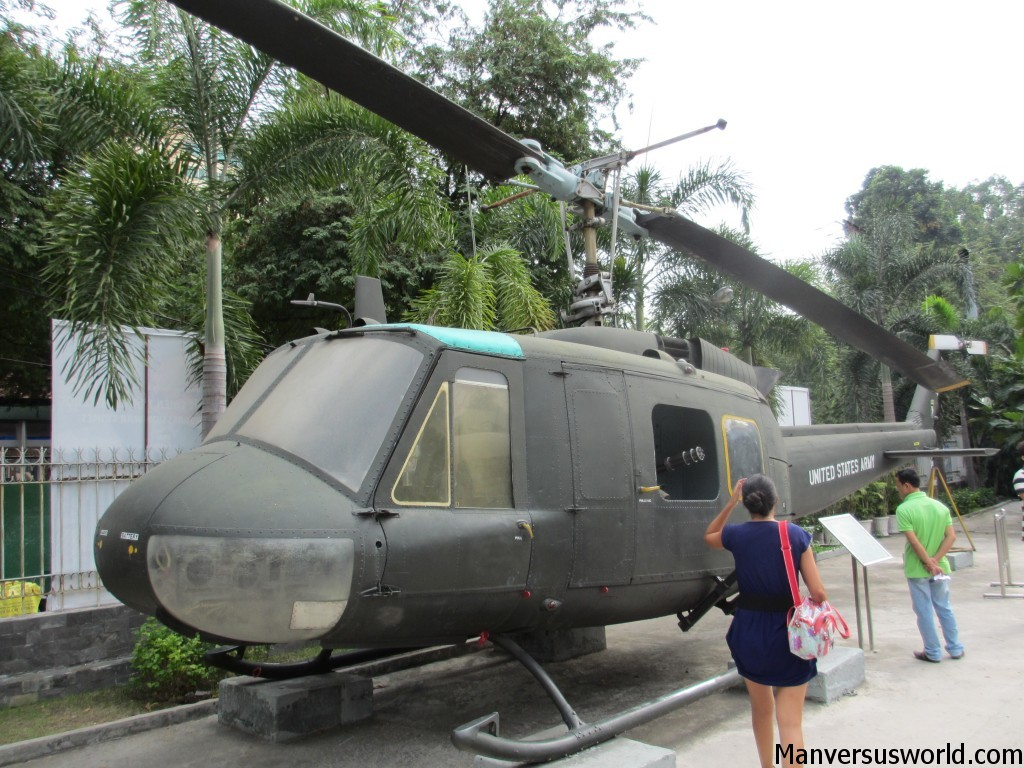 A US chopper at the War Remnants Museum in Ho Chi Minh, Vietnam