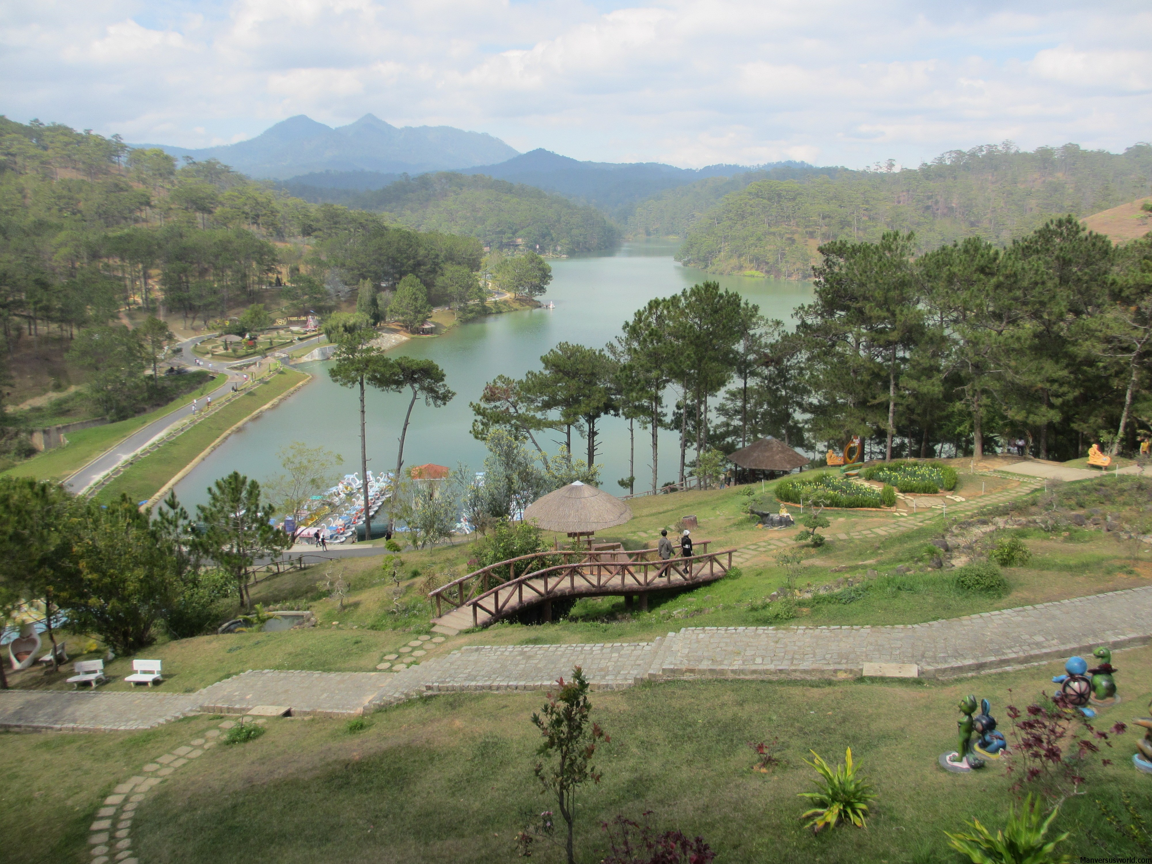 The view from Dalat's Valley of Love, Vietnam