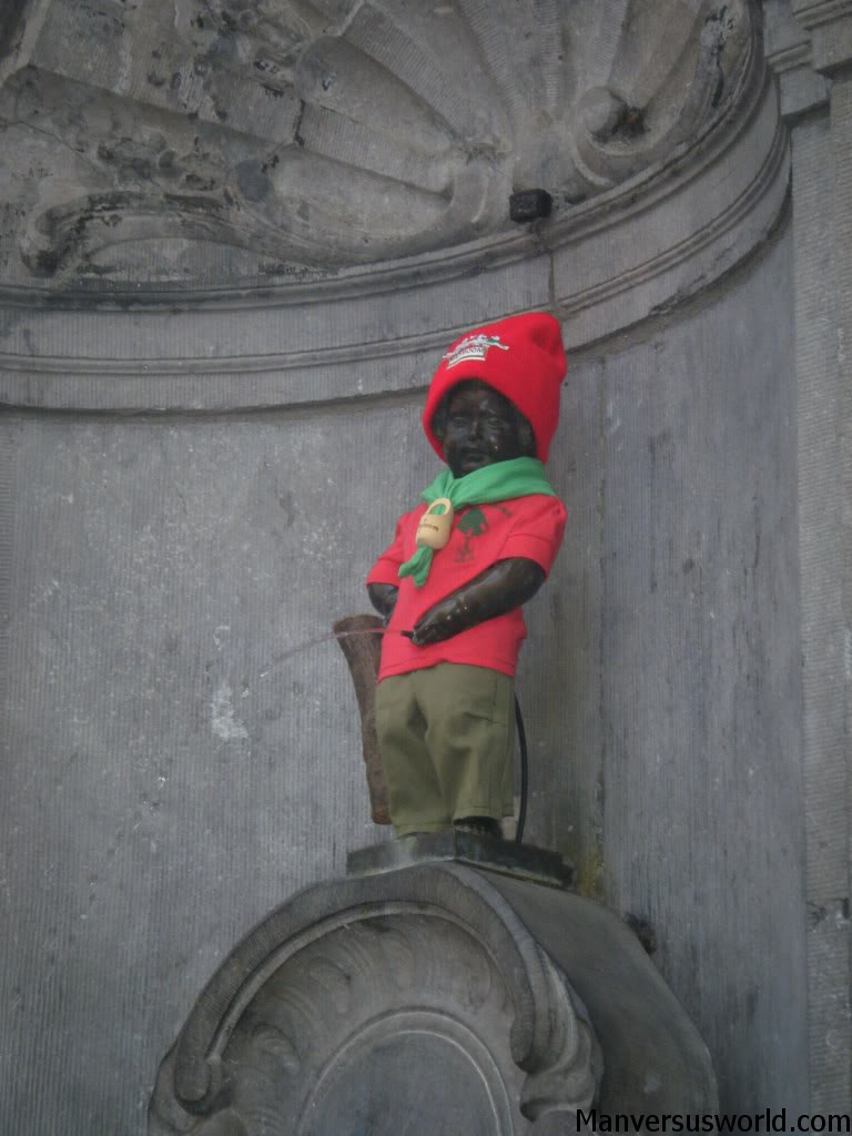 The Mannequin Pis in Brussels, Belgium.