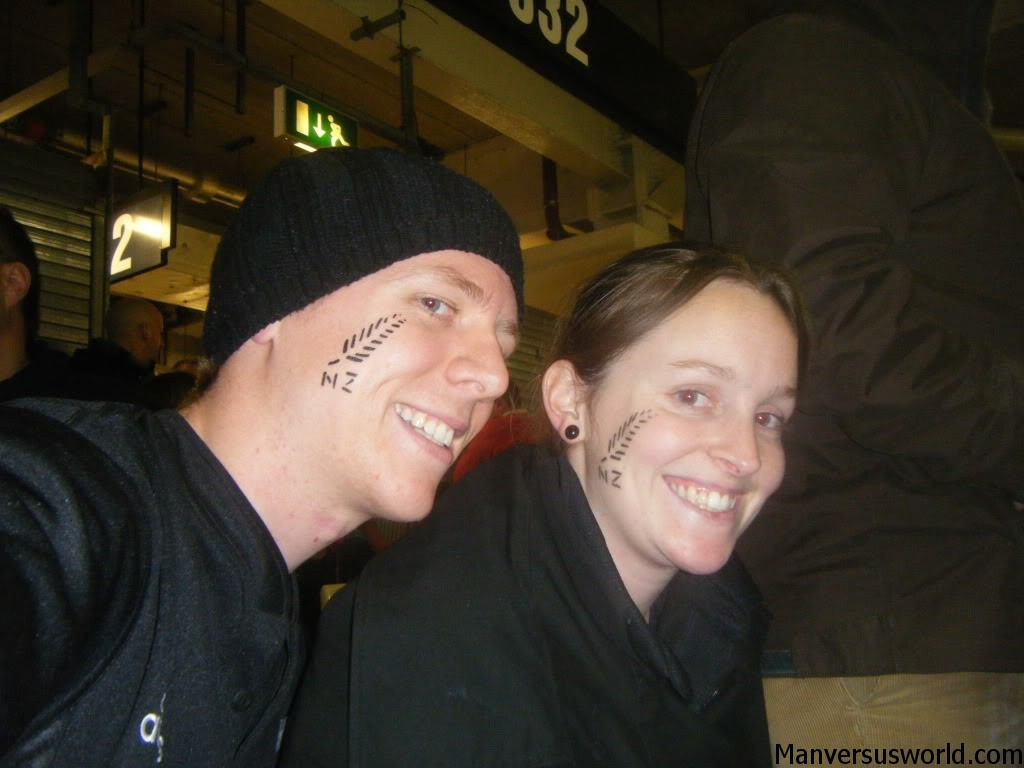 New Zealand face paint in Cardiff.