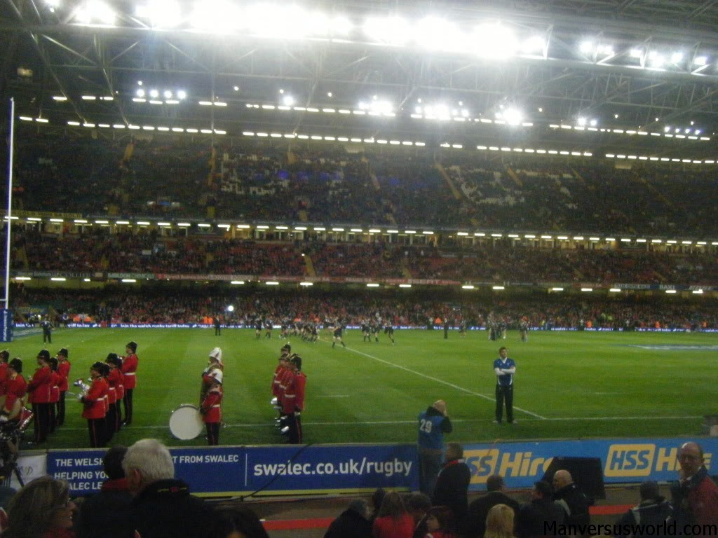 Rugby at Cardiff's Millennium Stadium, Wales.