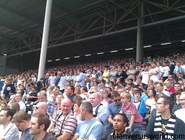 The home crowd at Craven Cottage.