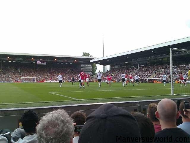 Manchester United meet Fulham, in my first ever football match