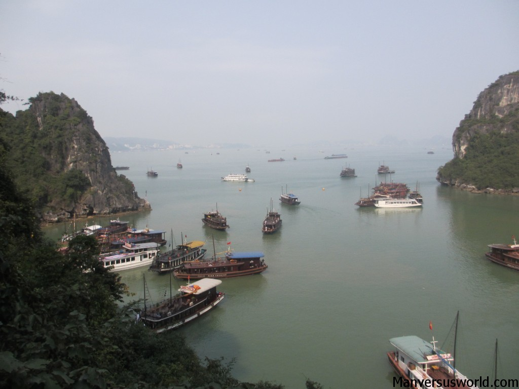A view of Halong Bay, Vietnam.