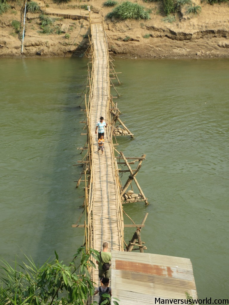 A wooden bridge in Luang Prabang, Laos.