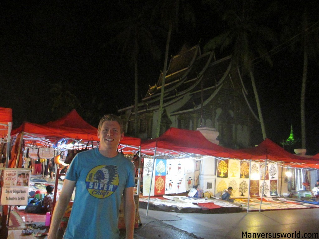 The night market in Luang Prabang, Laos.