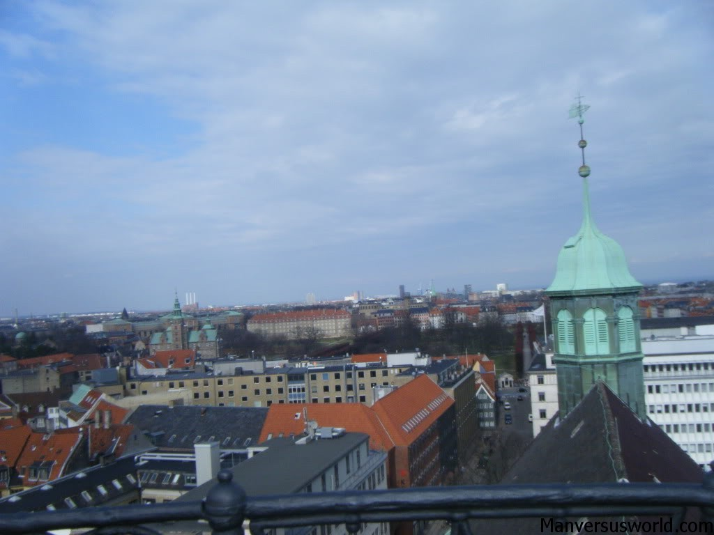 Copenhagen's city skyline is fairly unremarkable.