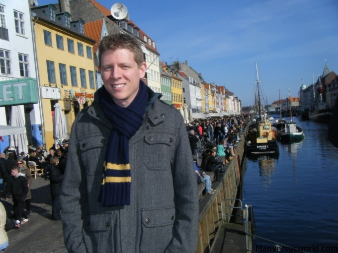 Drinking at Nyhavn in Copenhagen
