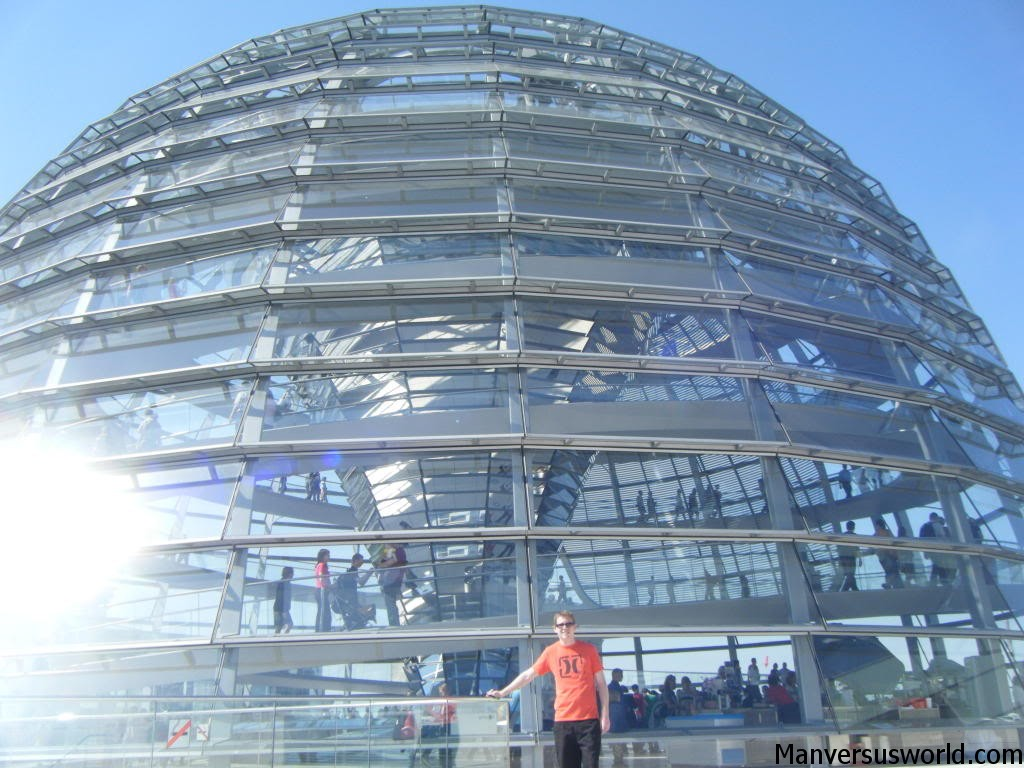 The sleek curves of the Reichstag in Berlin