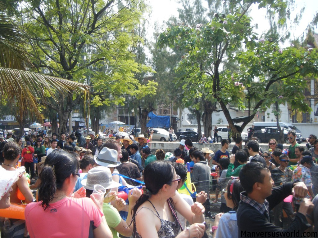 The Songkran water fight in Chiang Mai goes on and on