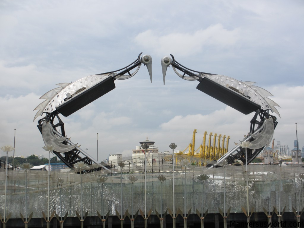 The Singapore crane dance begins