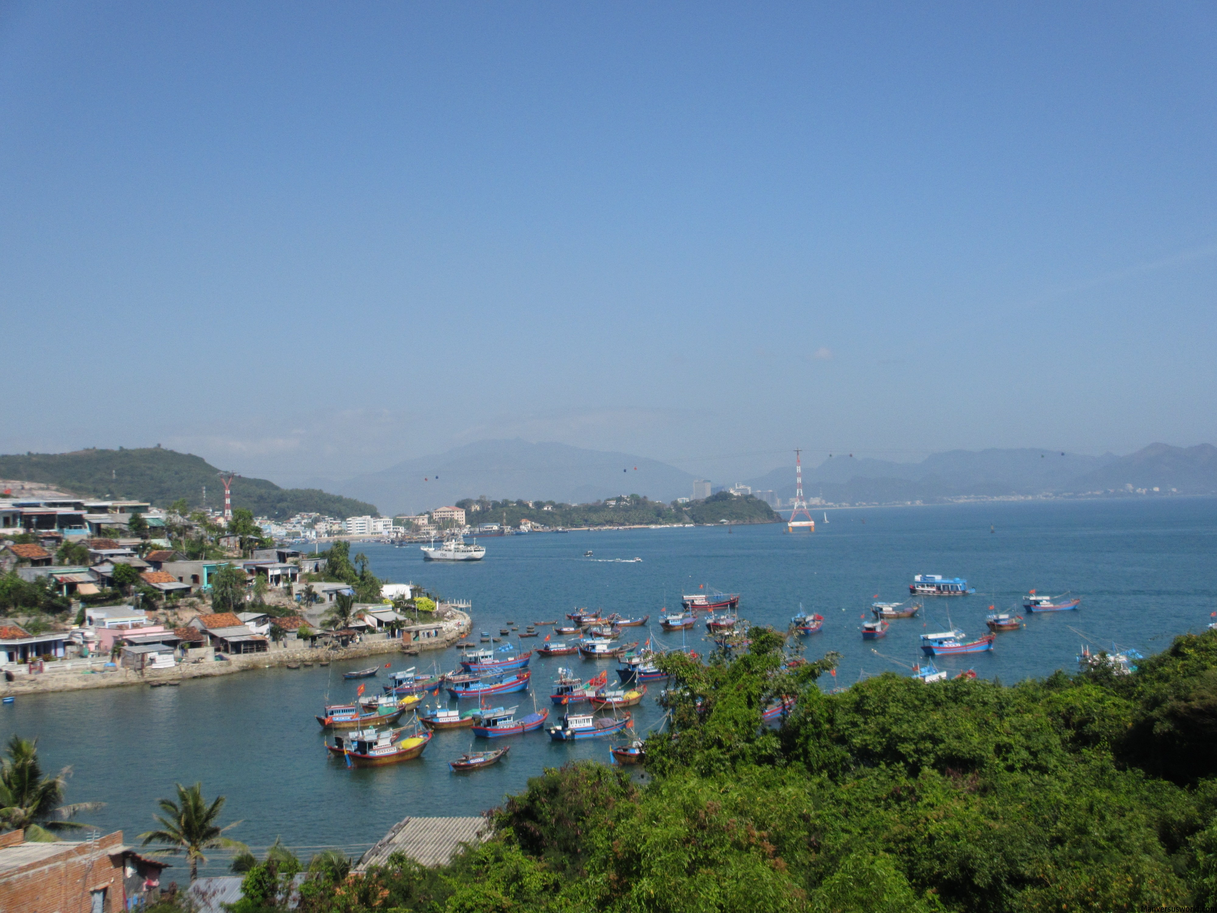 The lovely view from Tri Nguyen Aquarium