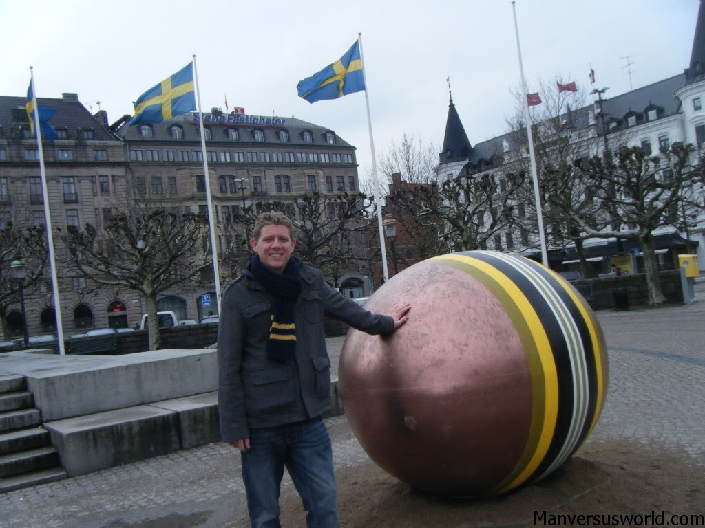 Me with a giant Easter egg in Malmo, Sweden