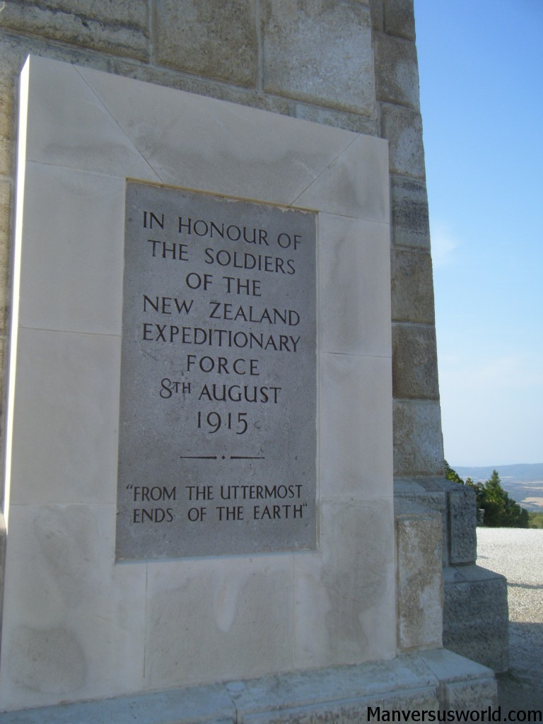 The New Zealand war memorial at Chunuk Bair, Gallipoli