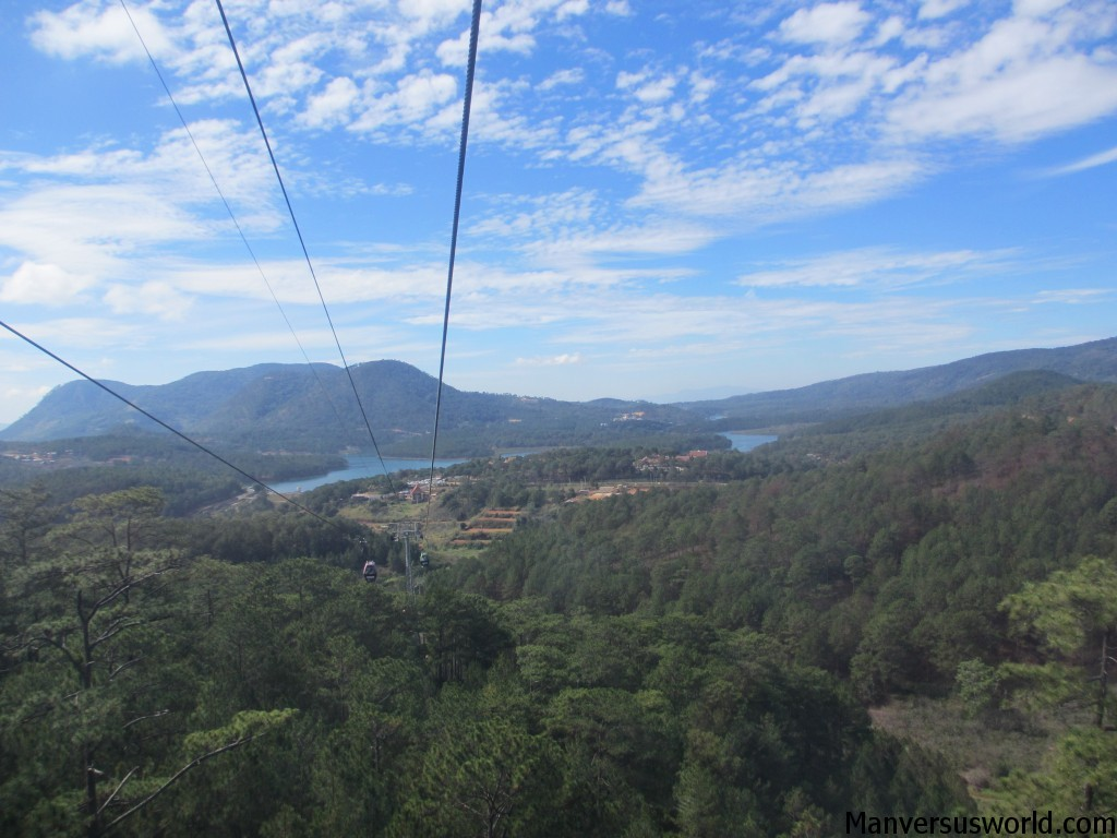 The beautiful view of Dalat from cable car
