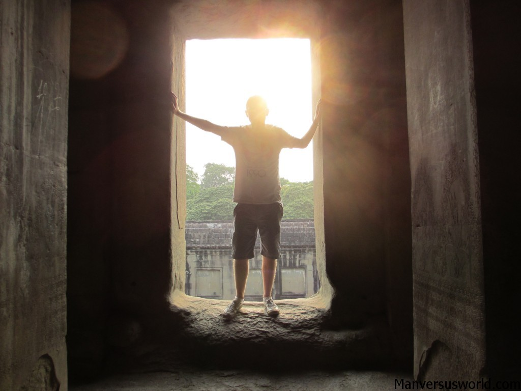 My silhouette at Angkor Wat makes me look awesome
