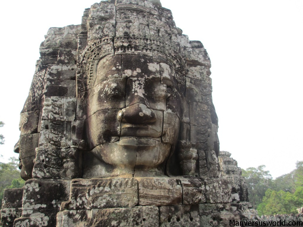 The myserious smiles of the Bayon temple in Cambodia