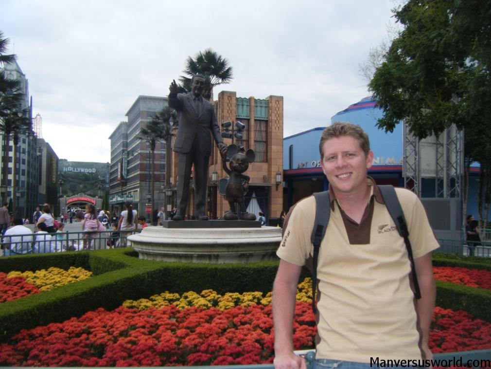 Me at Disneyland Paris, infront of Walt Disney statue