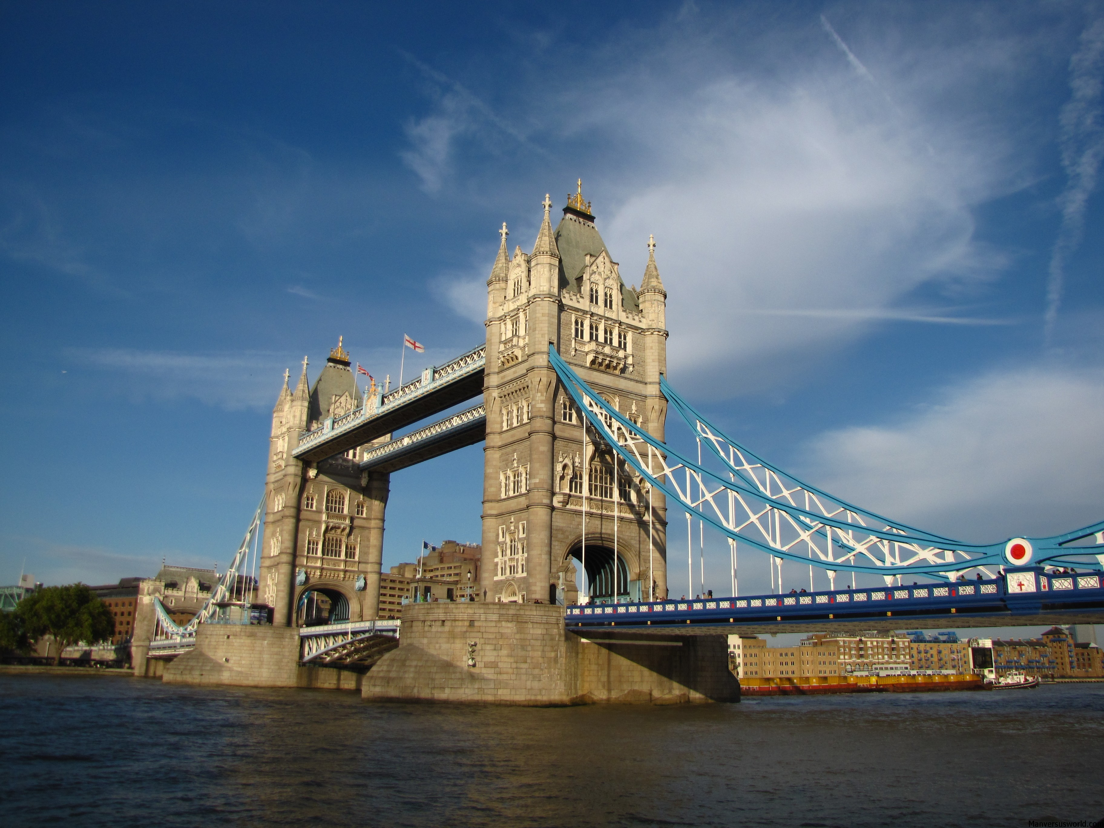 Tower Bridge on a sunny day in London
