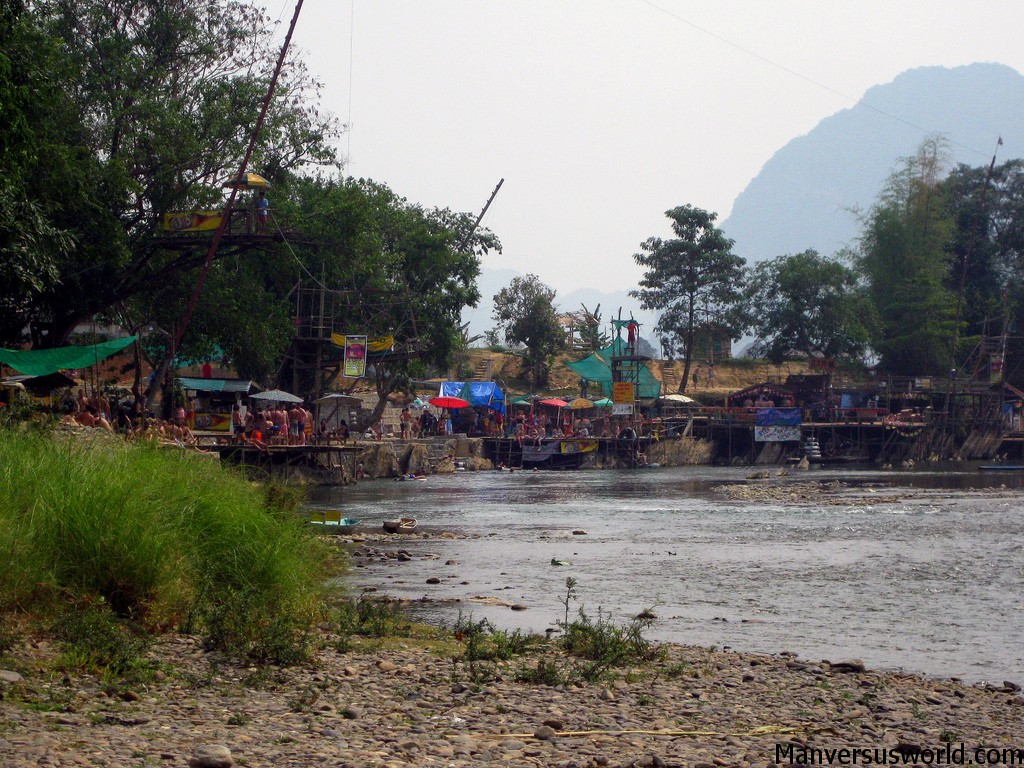 The tuber bars in Vang Vieng