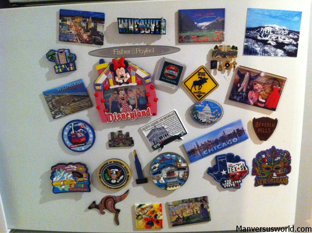 Fridge magnet souvenirs