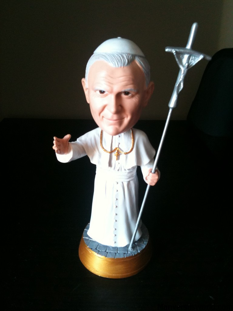 A Pope bobble head from the Vatican