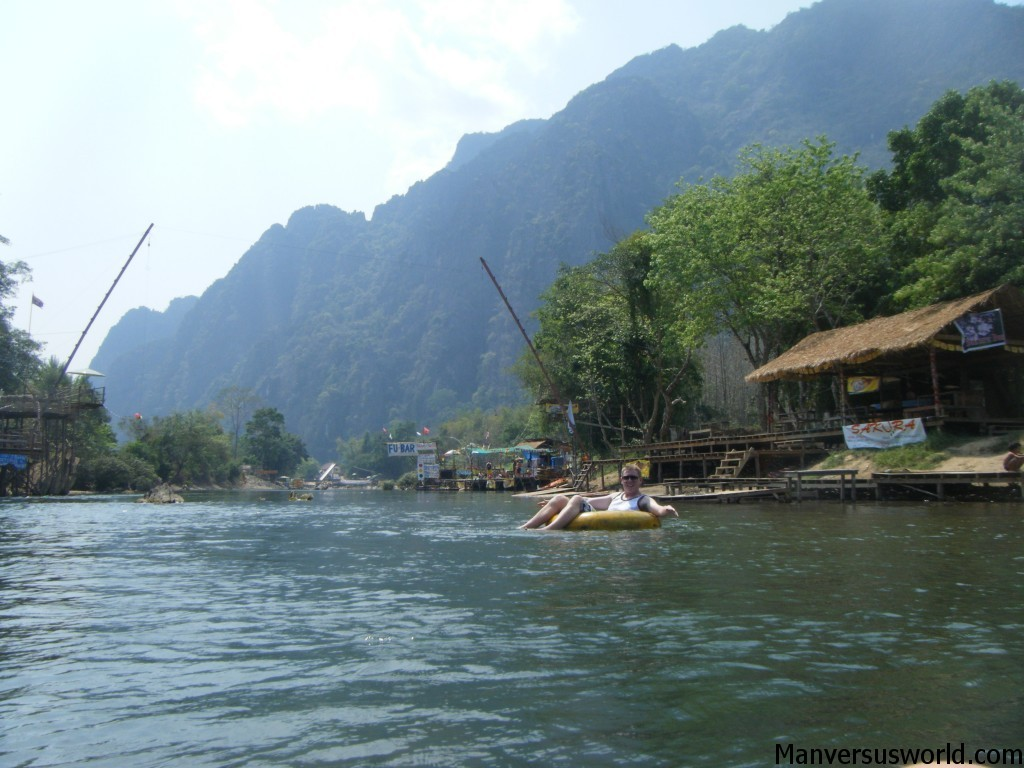 A beautiful day for tubing in Vang Vieng