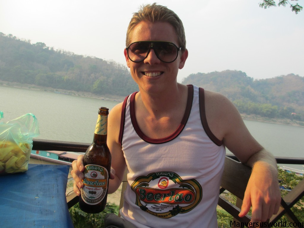 Beerlao singlet and beer in Luang Prabang