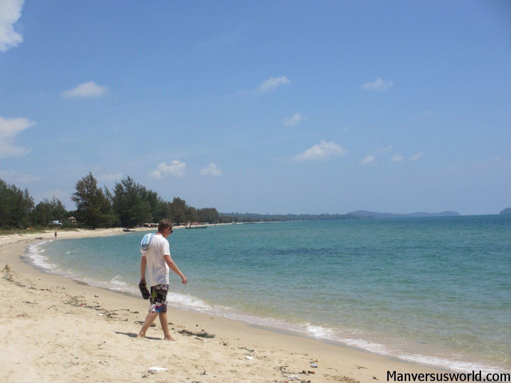 Beautiful, peaceful Sihanoukville beach