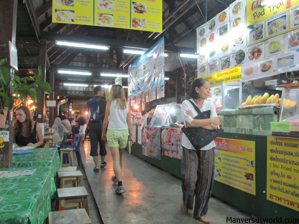 Food at the Chiang Mai night bazaar