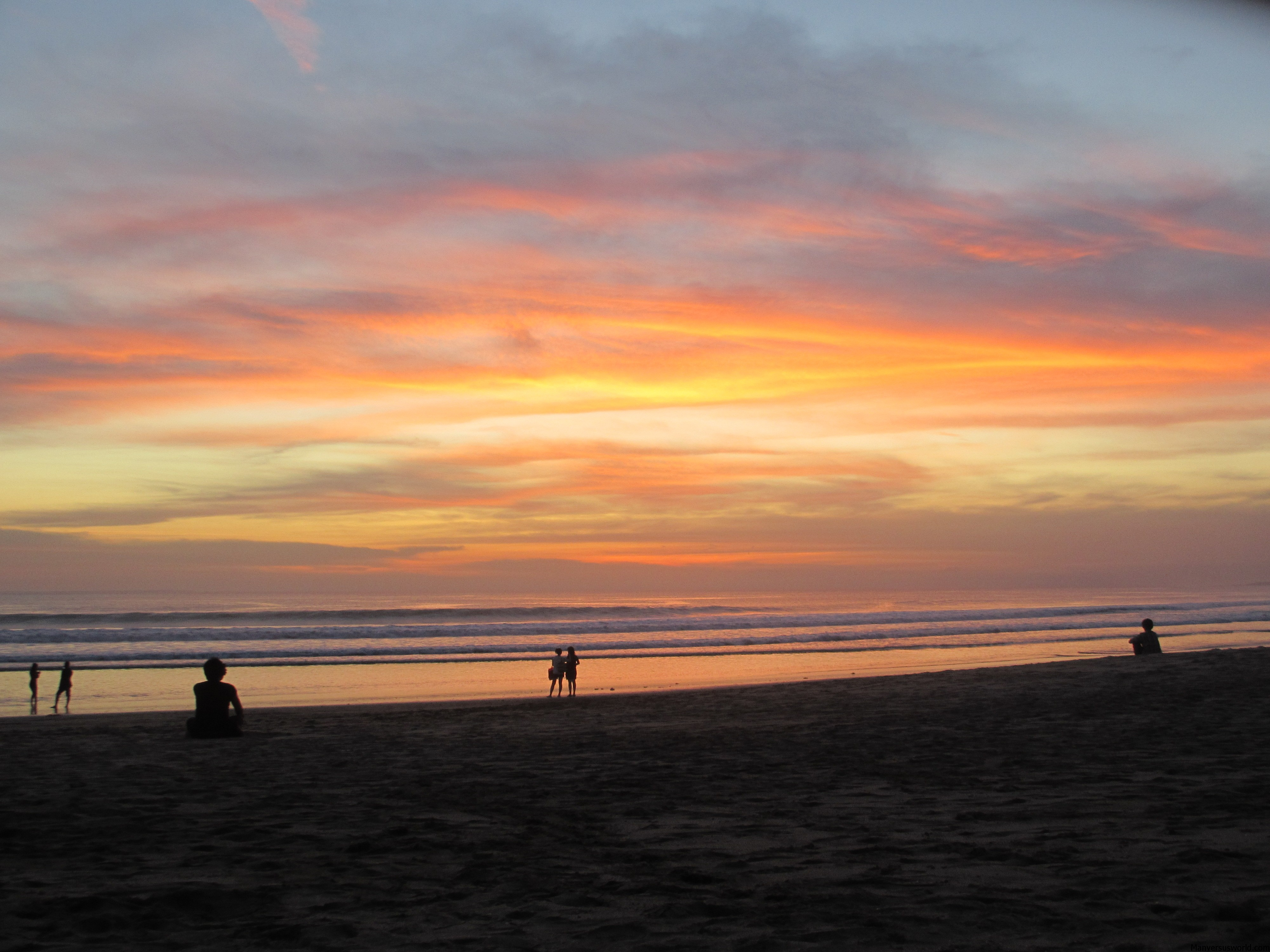 I got engaged iat sunset on Kuta Beach, Bali
