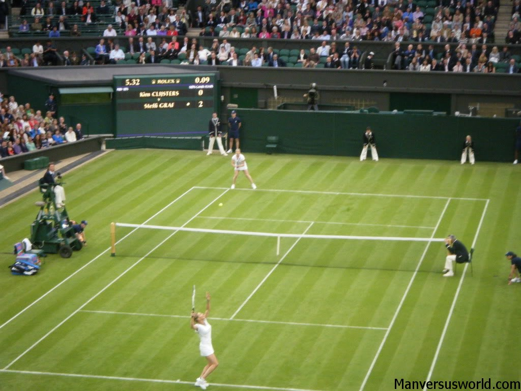 Wimbledon tennis action on centre court