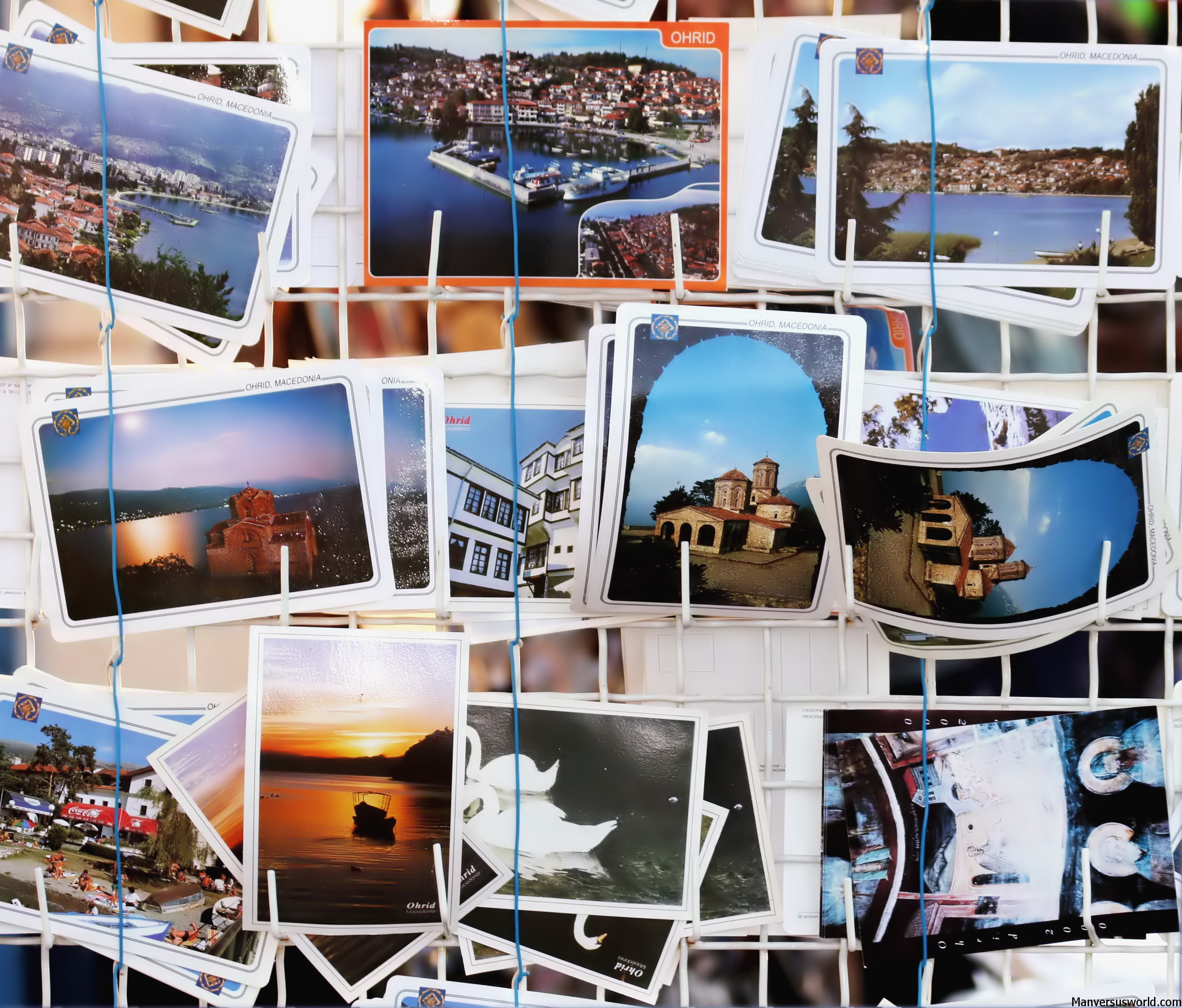 Travel souvenir postcards