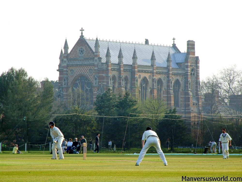 A cricket match in Oxford