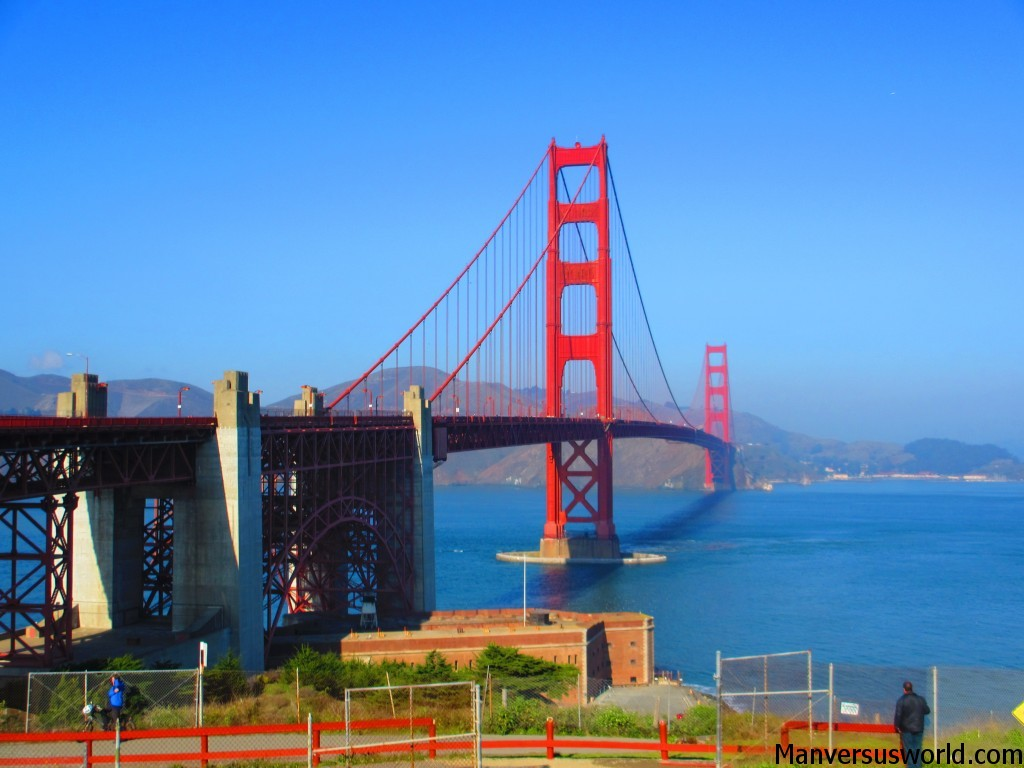San Francisco's dashing - red - Golden Gate Bridge