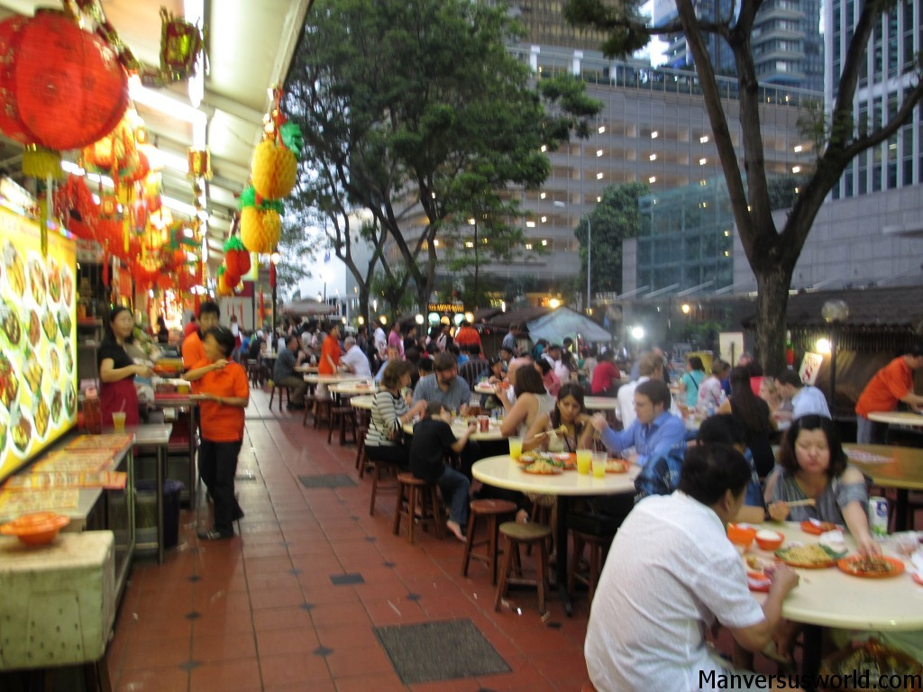 The hawker centre at Lau Pa Sat in Singapore sells the best satay in town