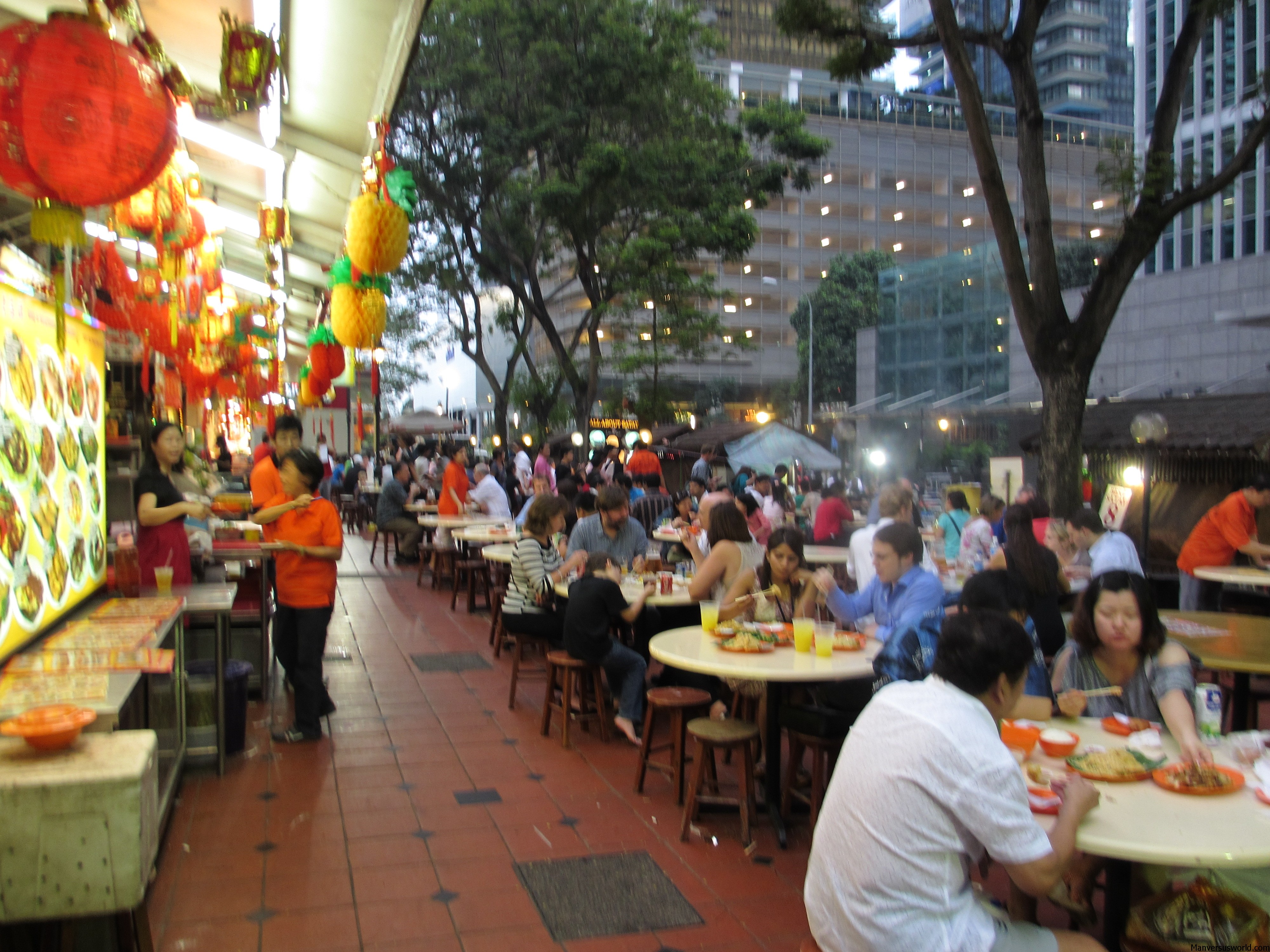 hawker centre at lau pa sat in singapore sells the best satay in town