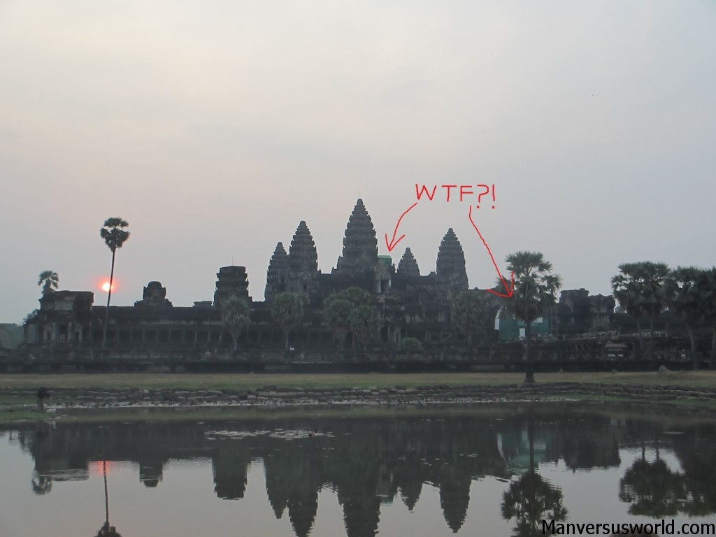 The scaffolding on Angkor Wat is a total anachronism