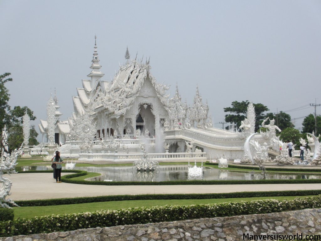 Wat Rong Khun (the White Temple) in Chiang Rai, Thailand
