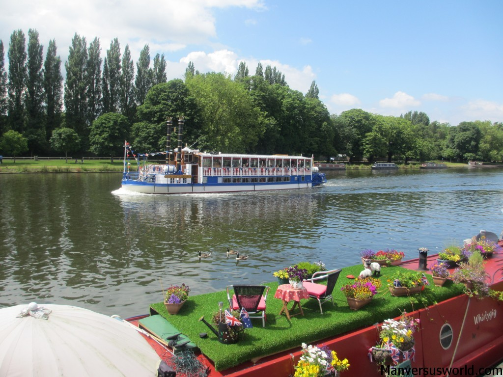 A river boat in Kingston upon Thames in London