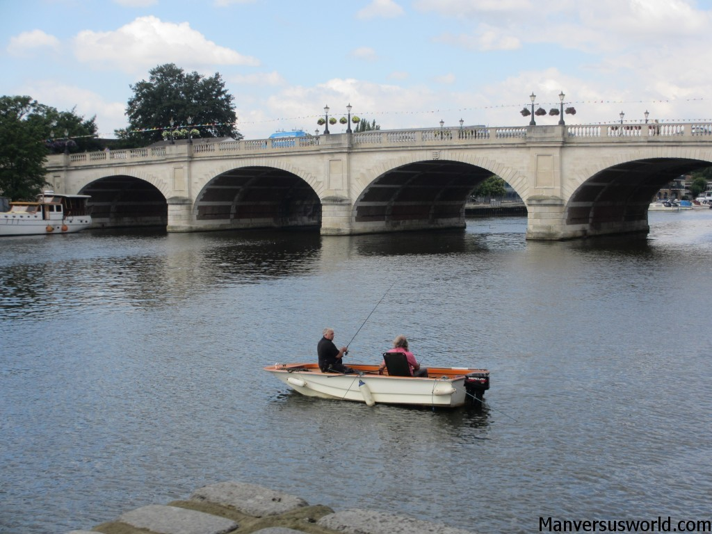 A boat on the River Thames in Kingston, London