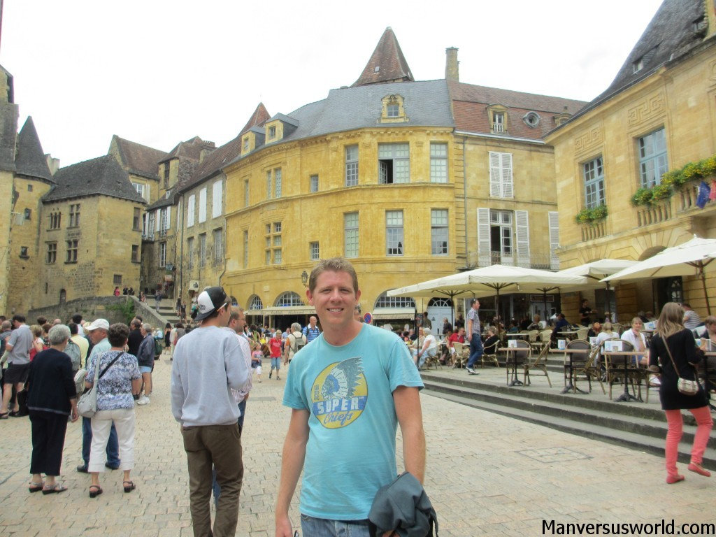 The medieval town of Sarlat in South West France