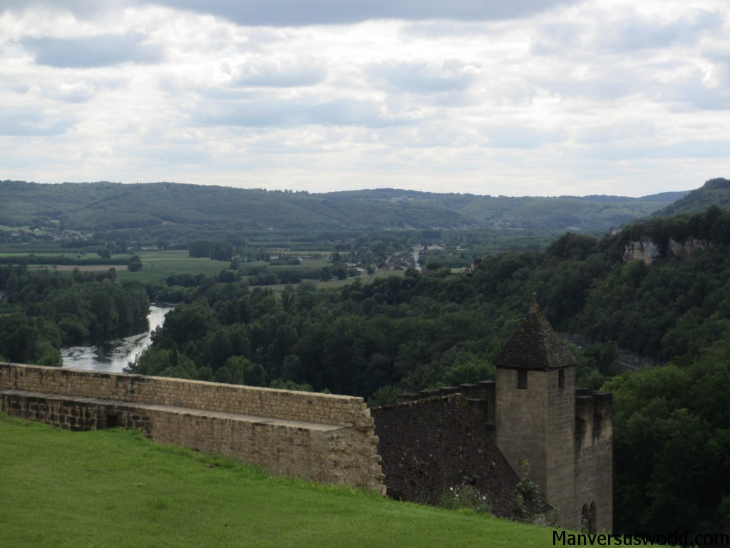 The view from Chateu de Beynac in France