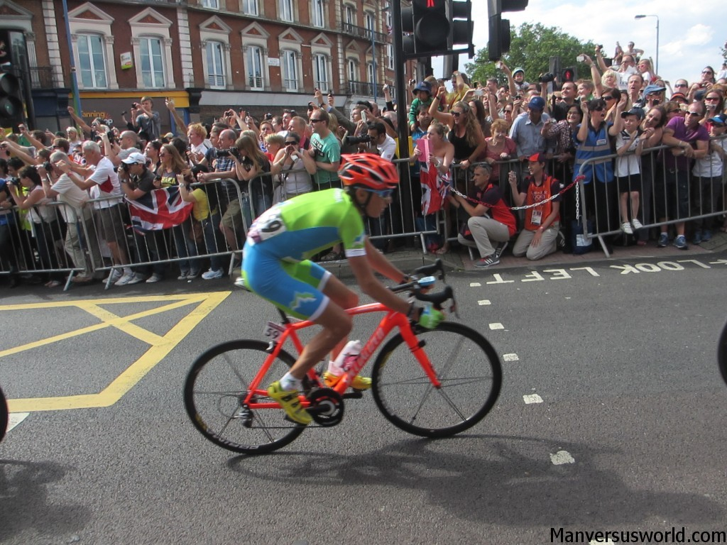 The men's road race in Putney, London 2012 Olympics