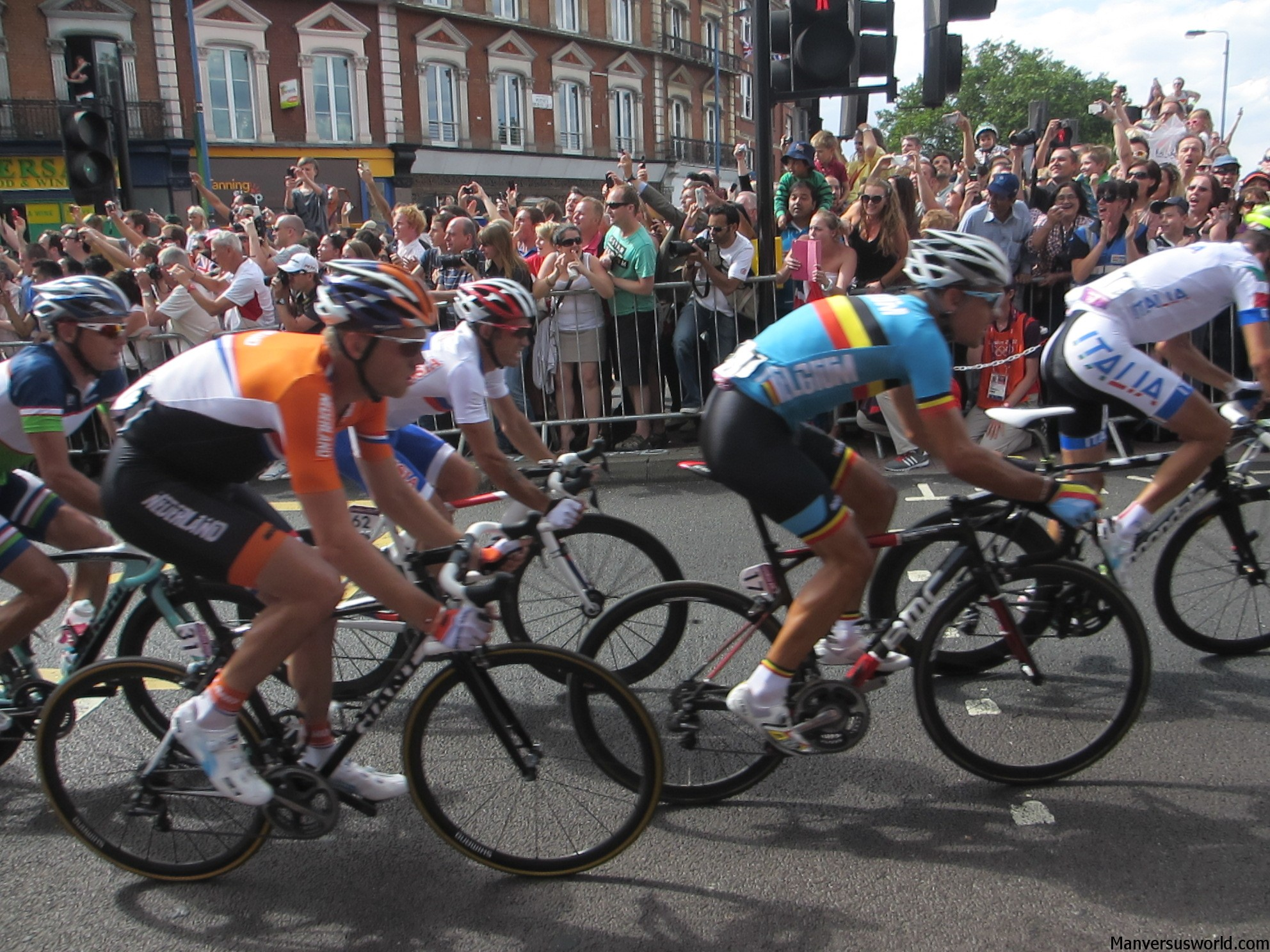 The London 2012 Olympics road race from Putney