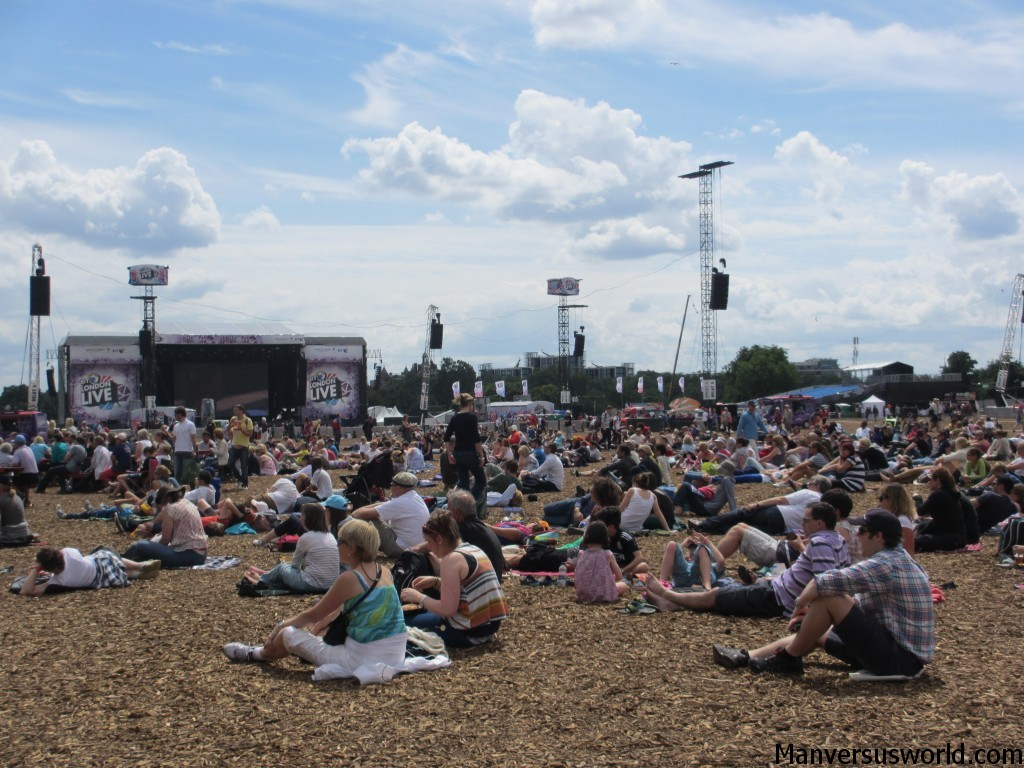 The crowd at London Live in Hyde Park