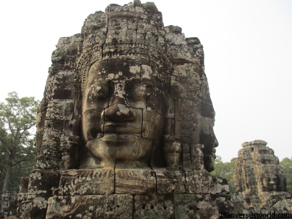 The amazing Bayon temple in Cambodia